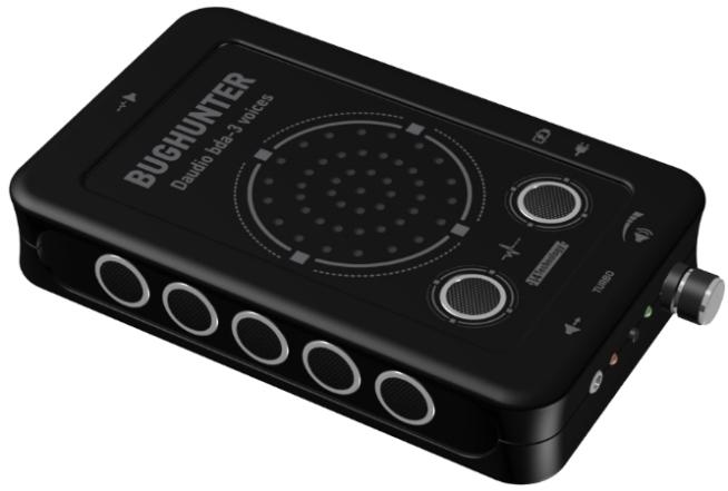 """Подавитель микрофонов и диктофонов """"BugHunter DAudio bda-3 Voices"""" оборудован семью ультразвуковыми излучателями и генератором речеподобного шума"""
