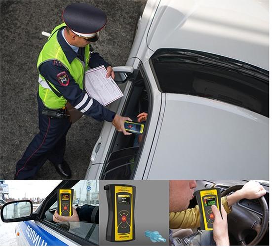 """Алкотестер """"AlcoHunter Pro-X2"""" отлично подойдет в качестве рабочего инструмента для сотрудников ГИБДД при проверках на дорогах"""