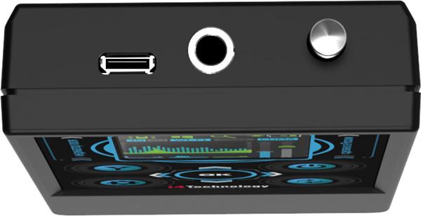 """Верхняя сторона детектора жучков """"BugHunter Professional BH-03"""": разъемы и выдвижная антенна"""