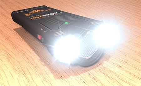 """Встроенные светодиодные стробоскопы отпугивателя  """"Собак.нет Вспышка+"""" светят очень ярко, освещая всё вокруг"""